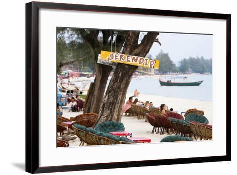 Serendipity Beach Is the Main Beach in Sihanoukville, Cambodia-Micah Wright-Framed Art Print