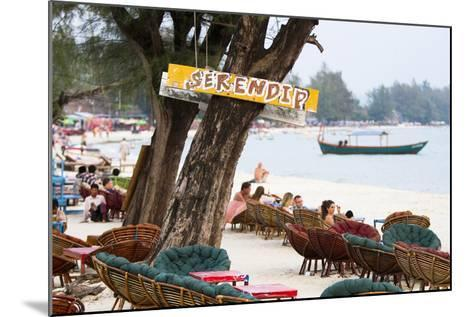 Serendipity Beach Is the Main Beach in Sihanoukville, Cambodia-Micah Wright-Mounted Photographic Print