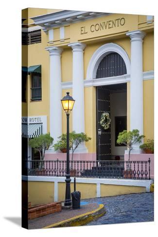 El Convento Hotel in Plazuela de las Monjas, San Juan, Puerto Rico-Brian Jannsen-Stretched Canvas Print