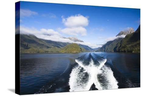 New Zealand's Doubtful Sound, Ferry Crossing Lake Manapouri-Micah Wright-Stretched Canvas Print