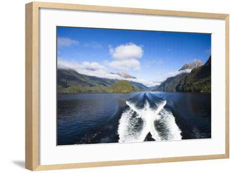New Zealand's Doubtful Sound, Ferry Crossing Lake Manapouri-Micah Wright-Framed Art Print