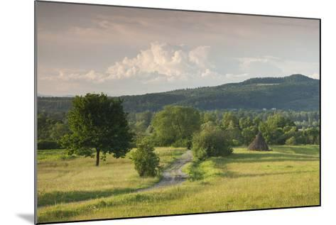 Romania, Maramures Region, Sarasau, Country Road by Ukrainian Frontier-Walter Bibikow-Mounted Photographic Print