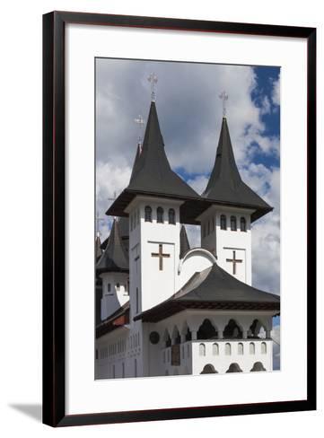 Romania, Maramures Region, Rodna Mountains NP, Orthodox Monastery-Walter Bibikow-Framed Art Print