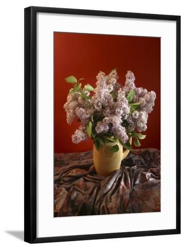 Lilac Flowers in Vase-Anna Miller-Framed Art Print