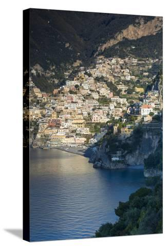 Morning View of Positano, Along the Amalfi Coast, Campania, Italy-Brian Jannsen-Stretched Canvas Print