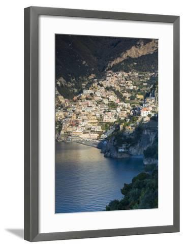 Morning View of Positano, Along the Amalfi Coast, Campania, Italy-Brian Jannsen-Framed Art Print