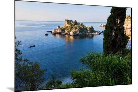 View of Isola Bella Island, Taormina, Sicily, Italy-Peter Adams-Mounted Photographic Print