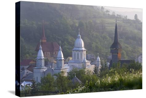 Churches of Botiza, Botiza, Maramures, Romania-Peter Adams-Stretched Canvas Print
