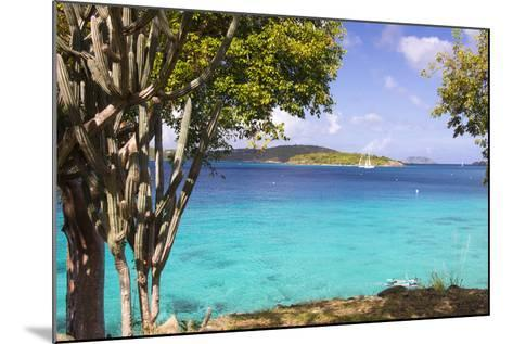 Us Virgin Island, St John. View of St Thomas Sailboats and Snorkelers-Trish Drury-Mounted Photographic Print