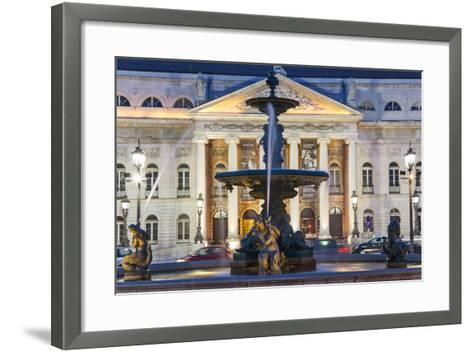 D. Maria II National Theatre, Rossio Square, Lisbon, Portugal-Peter Adams-Framed Art Print