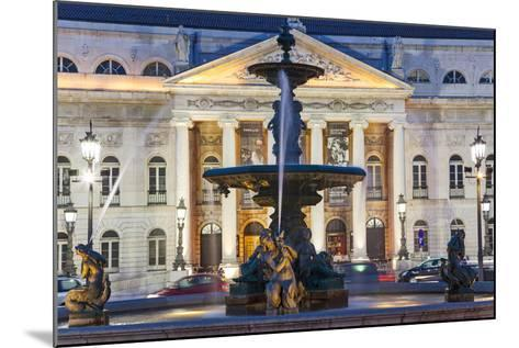 D. Maria II National Theatre, Rossio Square, Lisbon, Portugal-Peter Adams-Mounted Photographic Print