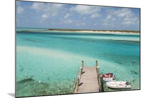 Bahamas, Exuma Island, Cays Land and Sea Park. Pier and Moored Boats-Don Paulson-Mounted Photographic Print