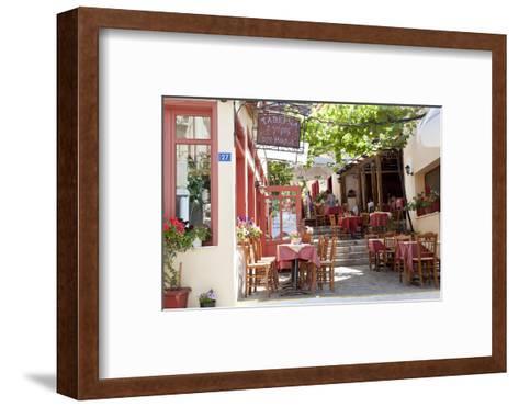 Cafe, Restaurant, Taverna, Plaka, Athens, Greece-Peter Adams-Framed Art Print