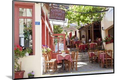 Cafe, Restaurant, Taverna, Plaka, Athens, Greece-Peter Adams-Mounted Photographic Print