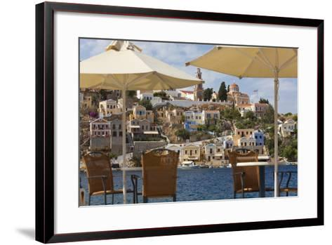 Symi Town, Symi Island, Dodecanese Islands, Greece-Peter Adams-Framed Art Print