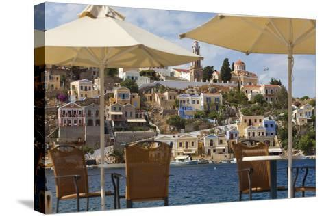 Symi Town, Symi Island, Dodecanese Islands, Greece-Peter Adams-Stretched Canvas Print