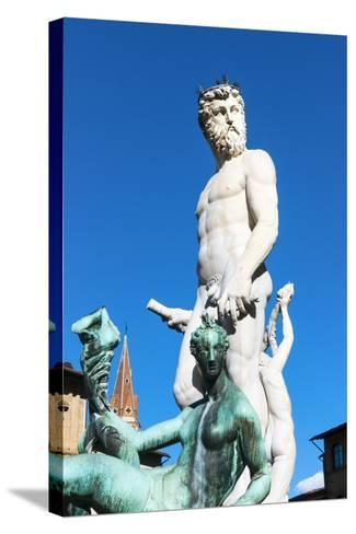 Fountain of Neptune, Piazza Signoria, Firenze, Tuscany, Italy-Nico Tondini-Stretched Canvas Print