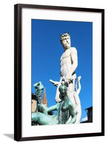 Fountain of Neptune, Piazza Signoria, Firenze, Tuscany, Italy-Nico Tondini-Framed Art Print