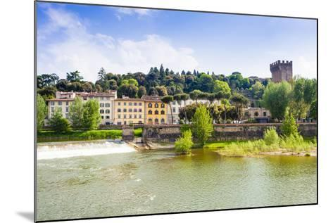 River Arno, Tower of San Niccolo, Firenze, Tuscany, Italy-Nico Tondini-Mounted Photographic Print