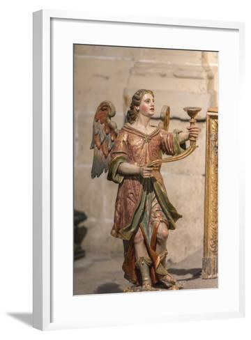Spain, Salamanca, Religious Candle Holder in Cathedral-Jim Engelbrecht-Framed Art Print