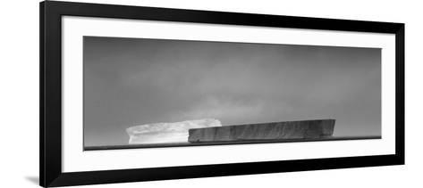 Antarctica, Weddell Sea. Tabular Icebergs in Sunlight and Shadow-Bill Young-Framed Art Print