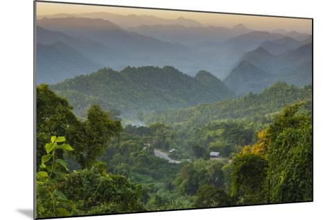 Myanmar. Shan State. Sunset over the Ridges of Haze-Filled Hills-Inger Hogstrom-Mounted Photographic Print