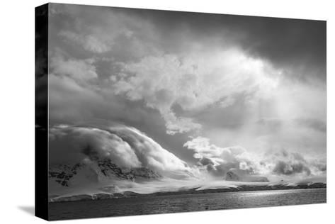 Antarctica, South Atlantic. Stormy Snow Clouds over Peninsula-Bill Young-Stretched Canvas Print