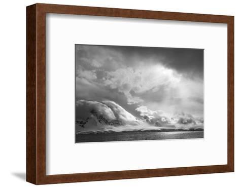 Antarctica, South Atlantic. Stormy Snow Clouds over Peninsula-Bill Young-Framed Art Print