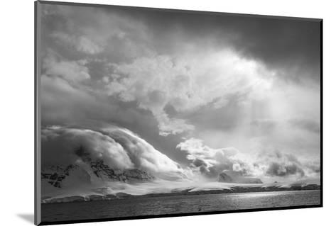 Antarctica, South Atlantic. Stormy Snow Clouds over Peninsula-Bill Young-Mounted Photographic Print