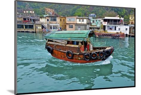 Community of Live-Aboard Boat People, Lei Yu Mai, Hong Kong-Richard Wright-Mounted Photographic Print
