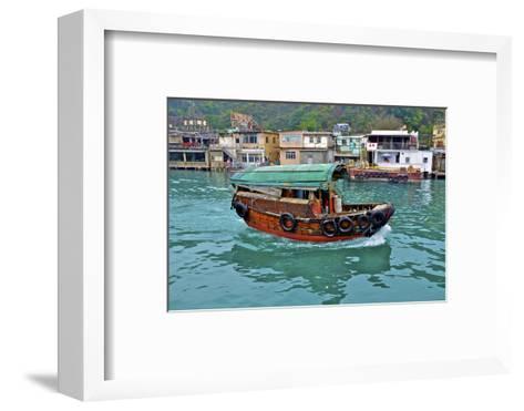 Community of Live-Aboard Boat People, Lei Yu Mai, Hong Kong-Richard Wright-Framed Art Print