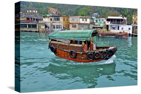 Community of Live-Aboard Boat People, Lei Yu Mai, Hong Kong-Richard Wright-Stretched Canvas Print