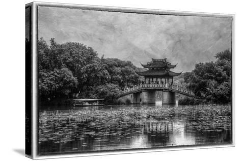 Pagoda Along the Waterfront West Lake, Hangzhou-Darrell Gulin-Stretched Canvas Print