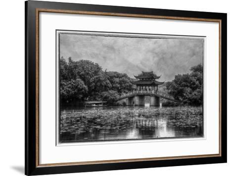 Pagoda Along the Waterfront West Lake, Hangzhou-Darrell Gulin-Framed Art Print