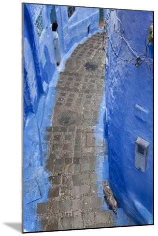 Narrow Lane, Chefchaouen, Morocco-Peter Adams-Mounted Photographic Print