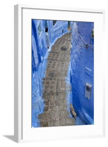 Narrow Lane, Chefchaouen, Morocco-Peter Adams-Framed Art Print