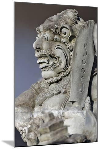 Stone Statue at Entrance of Tanah Lot. Bali Island, Indonesia-Keren Su-Mounted Photographic Print