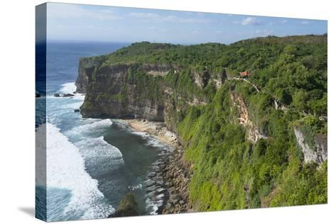 Cliff Along the Ocean, Bali Island, Indonesia-Keren Su-Stretched Canvas Print