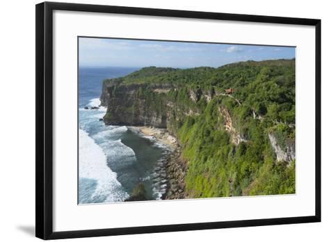 Cliff Along the Ocean, Bali Island, Indonesia-Keren Su-Framed Art Print