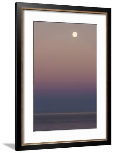 USA, California, Moonset over Pacific Ocean-John Ford-Framed Art Print