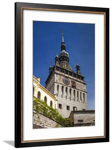 Romania, Transylvania, Sighisoara, Clock Tower, Built in 1280, Morning-Walter Bibikow-Framed Art Print