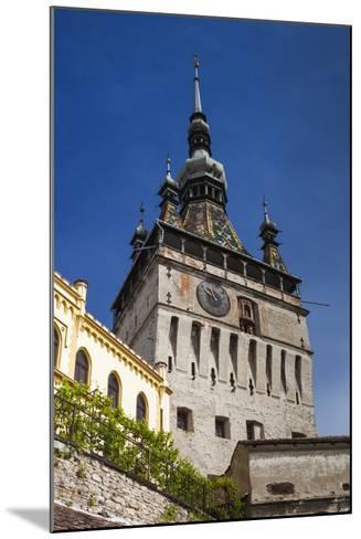 Romania, Transylvania, Sighisoara, Clock Tower, Built in 1280, Morning-Walter Bibikow-Mounted Photographic Print