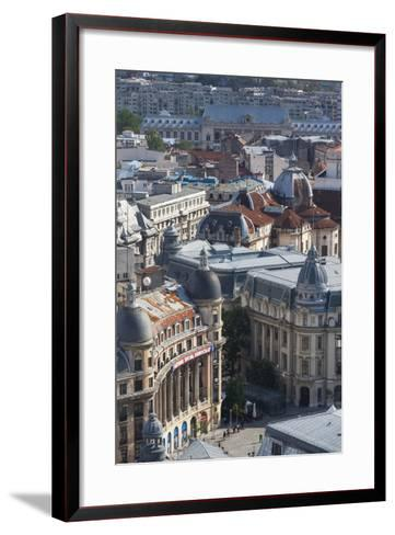 Romania, Bucharest, Buildings in Lipscani, Old Town, Elevated View-Walter Bibikow-Framed Art Print
