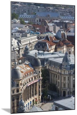 Romania, Bucharest, Buildings in Lipscani, Old Town, Elevated View-Walter Bibikow-Mounted Photographic Print