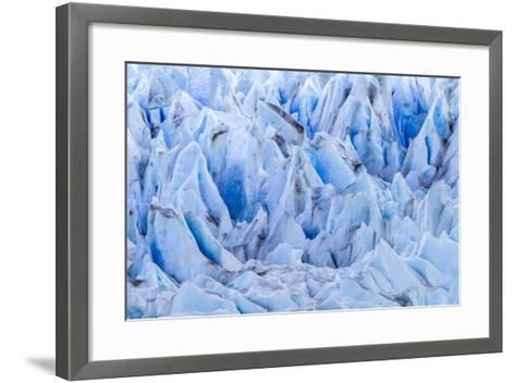 Chile, Patagonia, Torres del Paine NP. Close-up of Blue Glacier-Cathy & Gordon Illg-Framed Art Print
