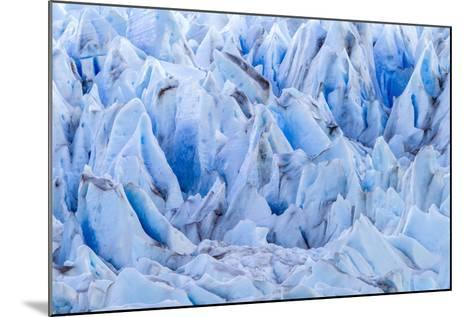 Chile, Patagonia, Torres del Paine NP. Close-up of Blue Glacier-Cathy & Gordon Illg-Mounted Photographic Print