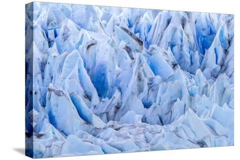Chile, Patagonia, Torres del Paine NP. Close-up of Blue Glacier-Cathy & Gordon Illg-Stretched Canvas Print