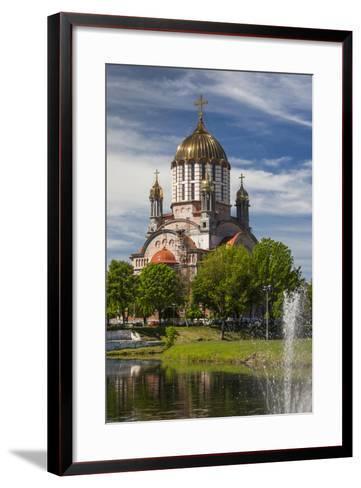 Romania, Transylvania, Fagaras, Sfantul Ioan Botezatorul Cathedral-Walter Bibikow-Framed Art Print
