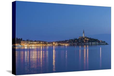 Croatia, Istria, Twilight Rovinj-Rob Tilley-Stretched Canvas Print