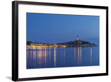 Croatia, Istria, Twilight Rovinj-Rob Tilley-Framed Art Print